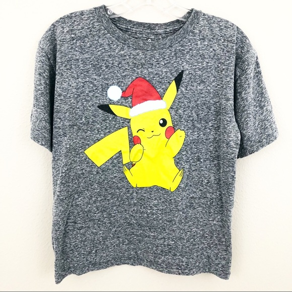 314c6ef3b Pokemon Tops | Pokmon Pikachu Large Holiday Christmas Santa Xmas ...